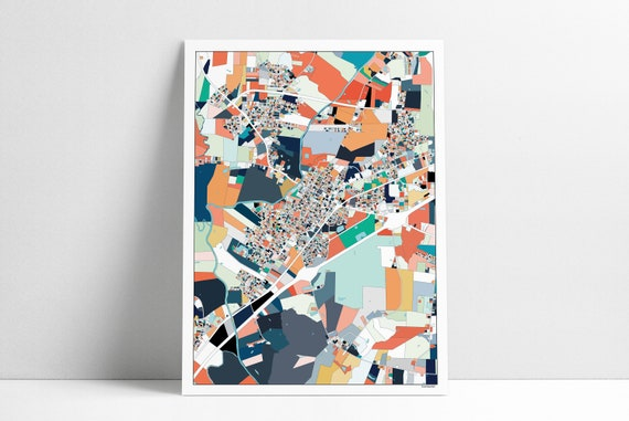 Smithfield Nc Wall Art Map Print Poster Housewarming Gift Etsy