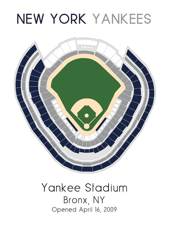 New York Yankees Yankee Stadium MLB Stadium Map Ballpark  eaec626b17a