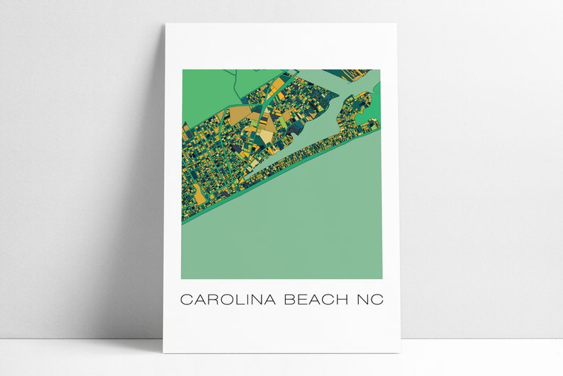 Carolina Beach CB Carolina Beach NC Carolina Beach Map   Etsy on