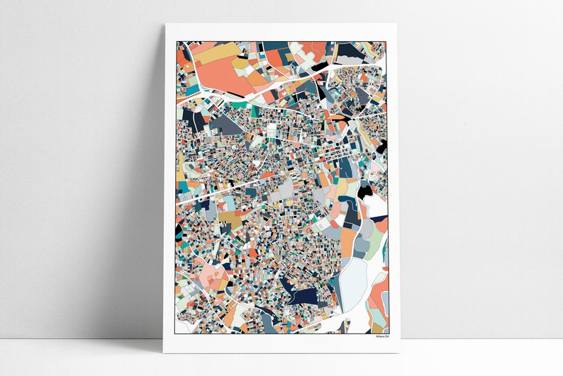 Map Of Georgia Athens.Athens Ga City Map 3 Color Options Georgia Athens Ga Map Uga Gift Map Poster Athens Map Print Wall Art Unique Art Abstract Art