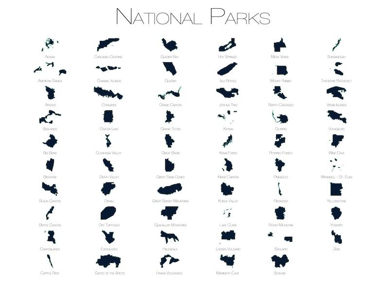 Parki Narodowe Mapa Parki Narodowe Plakat Park Narodowy Usa Mapa Przygoda Sztuka Podróże Sztuka Mapa Podróży Outdoor Art Explorer Drukuj