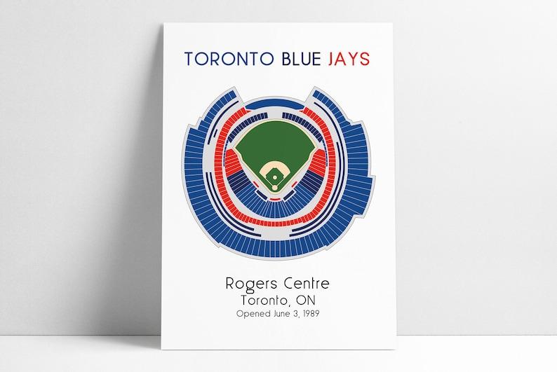 Toronto Blue Jays Mlb Stadium Map Ballpark Map Baseball Stadium Map Gift For Him Stadium Seating Chart Man Cave
