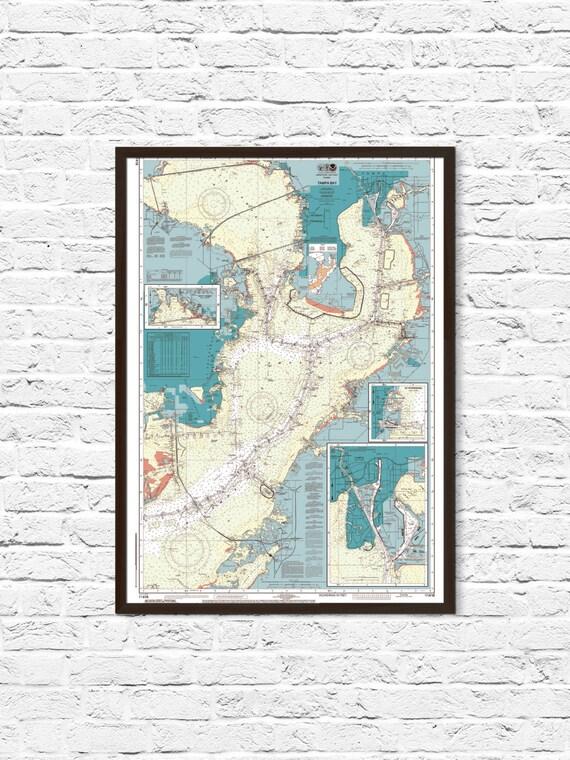 Tampa Florida On Map.Tampa Art Tampa Florida Map Florida Art Coastal Print Art Etsy
