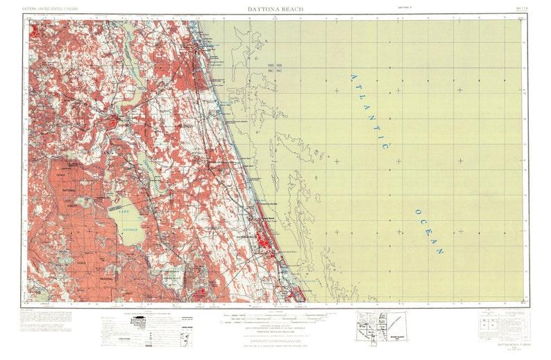 Daytona Beach Art Daytona Beach Map Daytona Beach Print   Etsy on