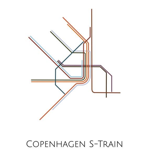 Subway Map Of Kopenhagen.Copenhagen Metro Map Subway Map Map Art Copenhagen Metro Minimalist Print Copenhagen Print Copenhagen Poster
