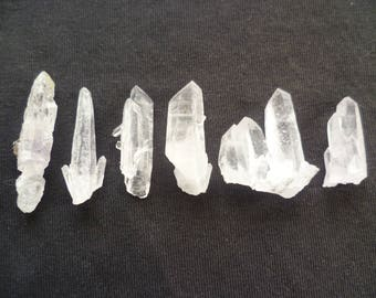 Sale Quartz Amethyst points, 1- 2 inches, Small Crystals Specimens,