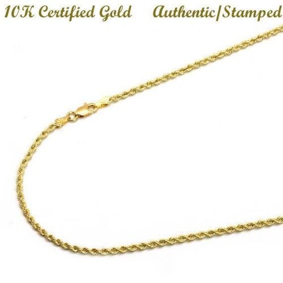 1a1ef3df5612 10k Yellow Gold Men Women Hollow High Polished Rope