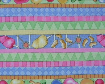 Treat Stripe – Circus Menagerie – J Wecker-Frisch – South Sea Imports – Quilting Patchwork Fabric FQ