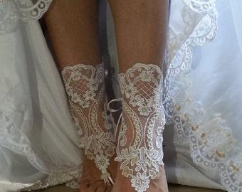 a97c96b04e7da ivory gold bridal lace barefoot sandals beach wedding lace jewelry bohemian  rustic jewelry lace bridal bridesmaids gifts jewelry shoes