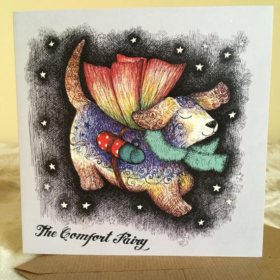 The Comfort Fairy Greetings Card