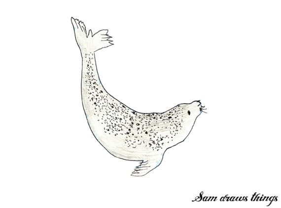 Morgance the Selkie Seal giclee print