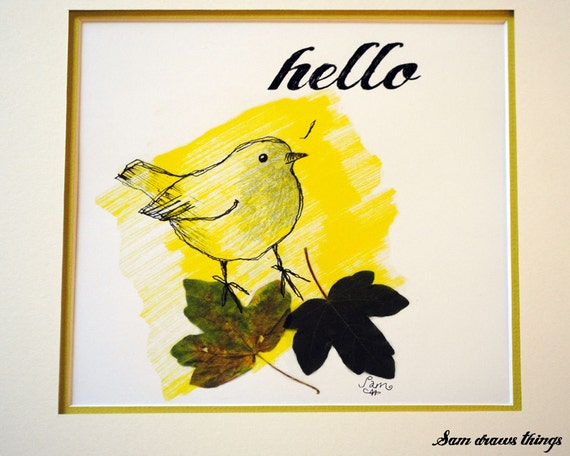 Hello…. giclee print of a robin