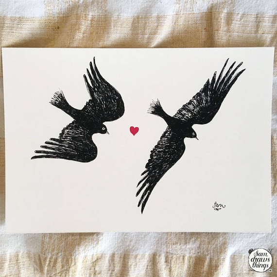 Happily Ever After - birds art print