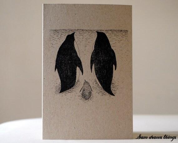 SALE: Penguin Christmas Card