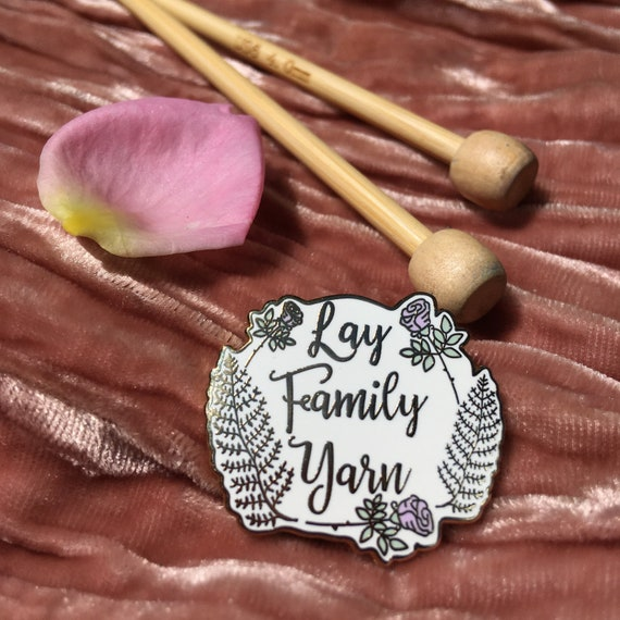 Preorder a Lay Family Yarn hard enamel pin