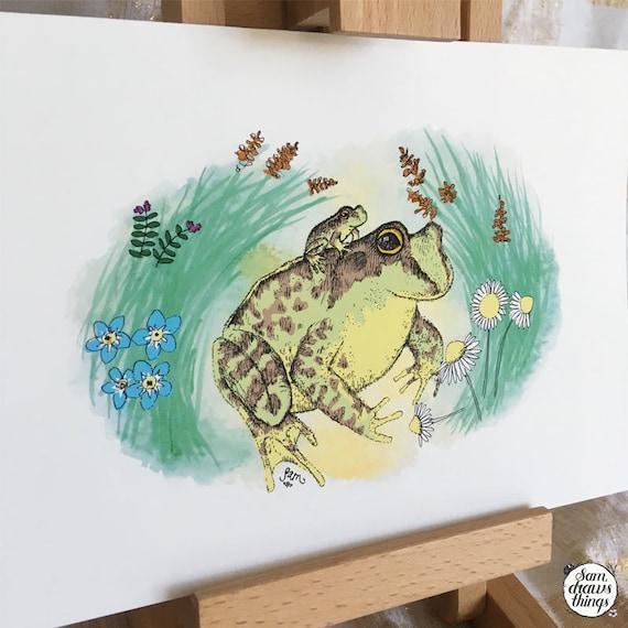 Baby Frog art print - nursery art