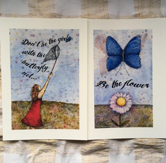 Be the flower - inspiring art print set
