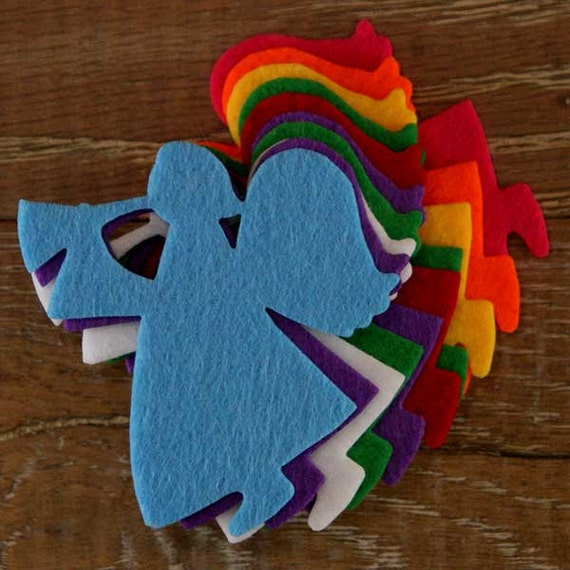 10x 3mm Thick Felt Curvaceous Hearts Craft Shapes Sizes 6-15cm 11 Colours
