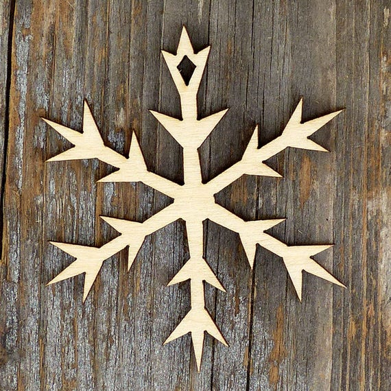 10x Wooden Plain Snowflake E Craft Shape 3mm Ply Christmas Decoration snow