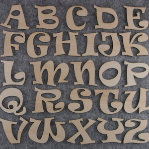 10 Characters Victoria Font Number Set 3mm or 6mm Plywood 0-9