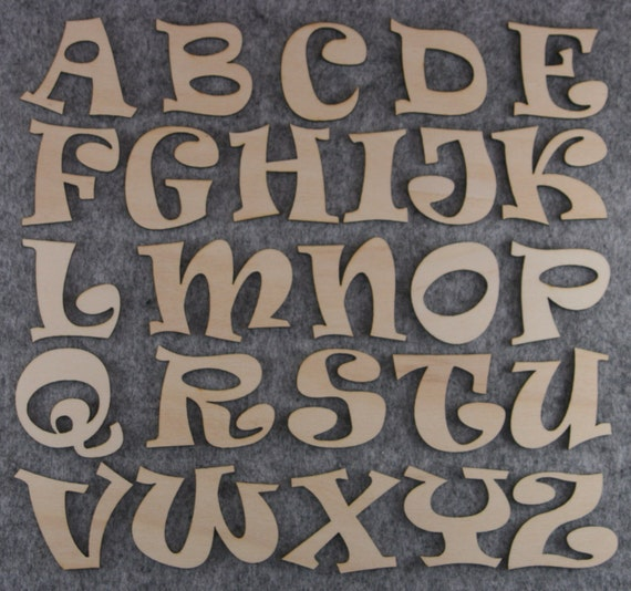Arial Font Alphabet Set 3mm or 6mm Plywood Lower Case Letters a-z 26 Characters