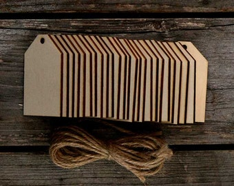 25x Wooden Luggage Tags Craft Shape 3mm Ply comes with twine