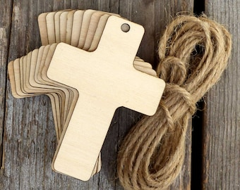 10 Wooden Plain Christian Cross Craft Shapes 3mm Plywood