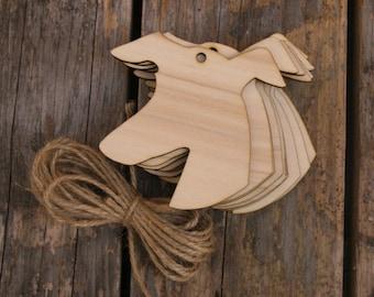 10x Wooden Grayhound Dogs Head Craft Shape 3mm Ply