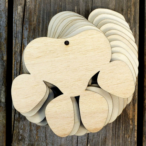 10x Wooden Toadstool Craft Shapes 3mm Plywood with Detail