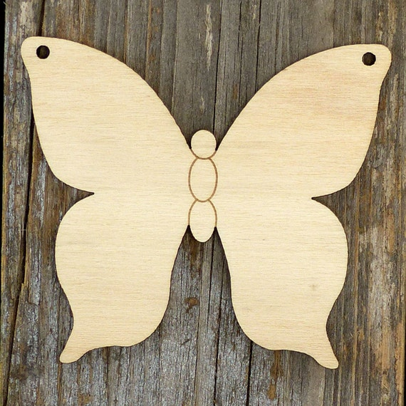 10x Wooden Simple Butterfly Style D Craft Shapes 3mm Plywood Insect and Wildlife