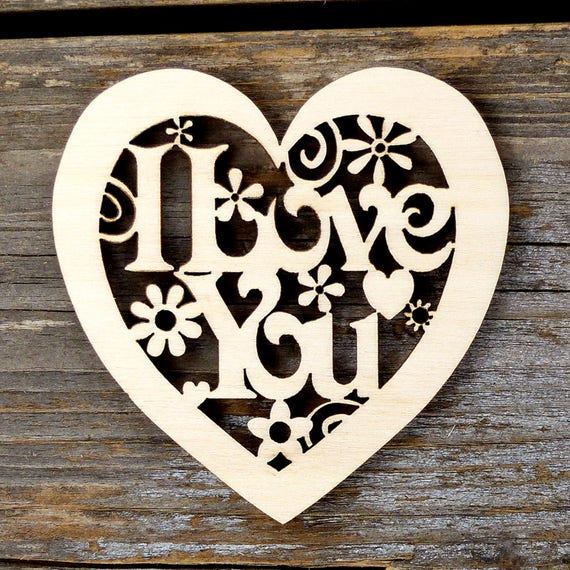 Wooden Birch Plywood 12cm x 10 Heart Shapes Craft With One Hanging Hole