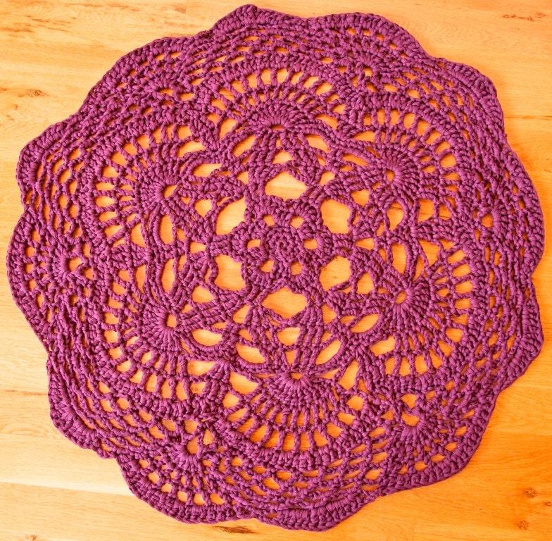 Crochet Doily Rug Boho Rug Giant Lacy Rug Round Crochet Etsy