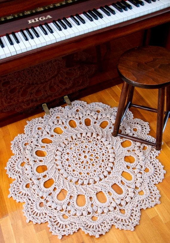 Riesen Deckchen häkeln Teppich rustikale Teppich herrliche | Etsy