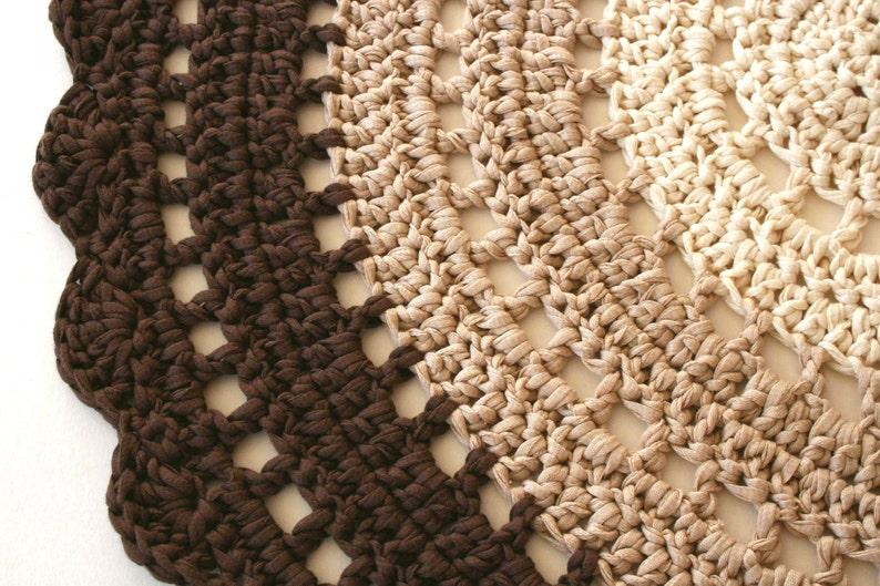 Uncinetto mezzo cerchio tappeto tappeto piccolo boho etsy