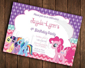 My Little Pony Inspired Birthday Invitation