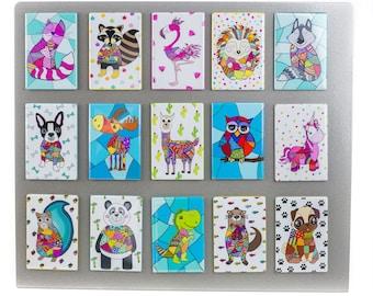 Funny magnet, Animal magnet, Magnet, Magnet fridge, kitchen magnet, Colorful magnet, Funny animal magnet
