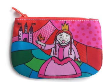 coin purse, change purse, card holder wallet, penny bag, princess wallet, small pouch, little girl bag, pouch