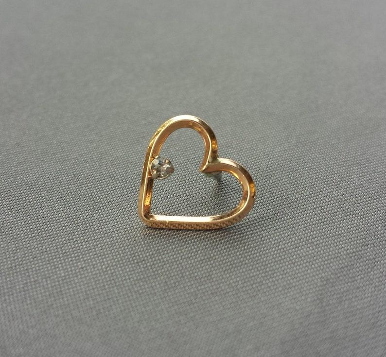 e953d1cf85d Vintage Krementz 14K Gold Ladies Heart Lapel/dress Pin Art | Etsy