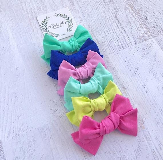 Small Fabric Bows Solid Bows Summer Bows Baby Bows  94c8998d5fa4