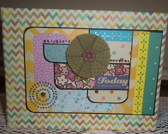 Today Is Wonderful - Scrapbooking Album, Photo album, Memory book, Photo Journal – Any occasion