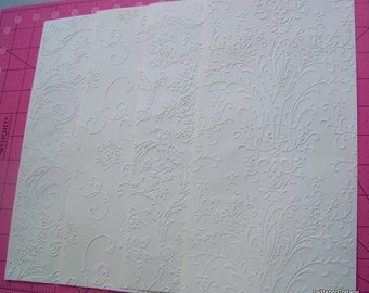 Embossed cardstock sheets