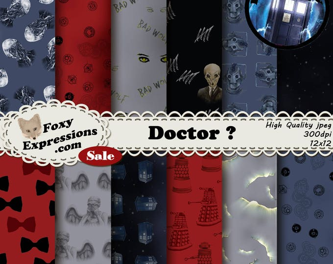 Doctor ? is inspired by BBC Doctor Who. Designs include weeping angels, Ood, Silence, Bad Wolf, Tardis, Cybermen, Craks, Bow Ties, Space,etc