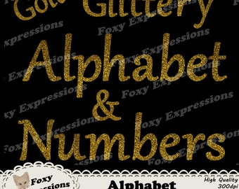 Gold Glittery Alphabet letters and numbers pack comes in gold to put a little sparkle on any project. 71 pieces. Comes with punctuations.