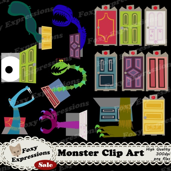 Monsters Clip Art Is Inspired By Monsters Inc Pack Comes With Etsy