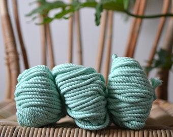 Frozen mint, Macrame cotton rope, macrame rope, cotton cord 5 mm, macrame cord, 5mm cotton twisted rope, cotton rope macrame, diy rope