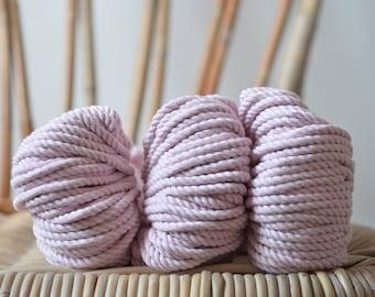 Peony, Macrame pastel pink, cotton rope, macrame rope, cotton cord 5 mm, macrame cord, 5mm cotton twisted rope, cotton rope macrame, peony