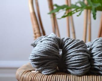 Ashes, Macrame rope, cotton rope, macrame rope, cotton cord 5 mm, macrame cord, 5mm cotton twisted rope, cotton rope macrame, diy rope