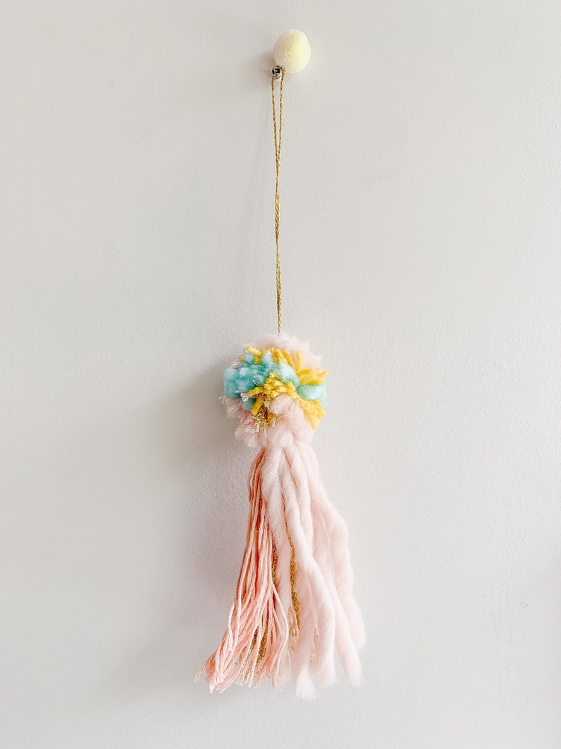 Decorative pompom colorful tassels baby nursery decor boho image 0