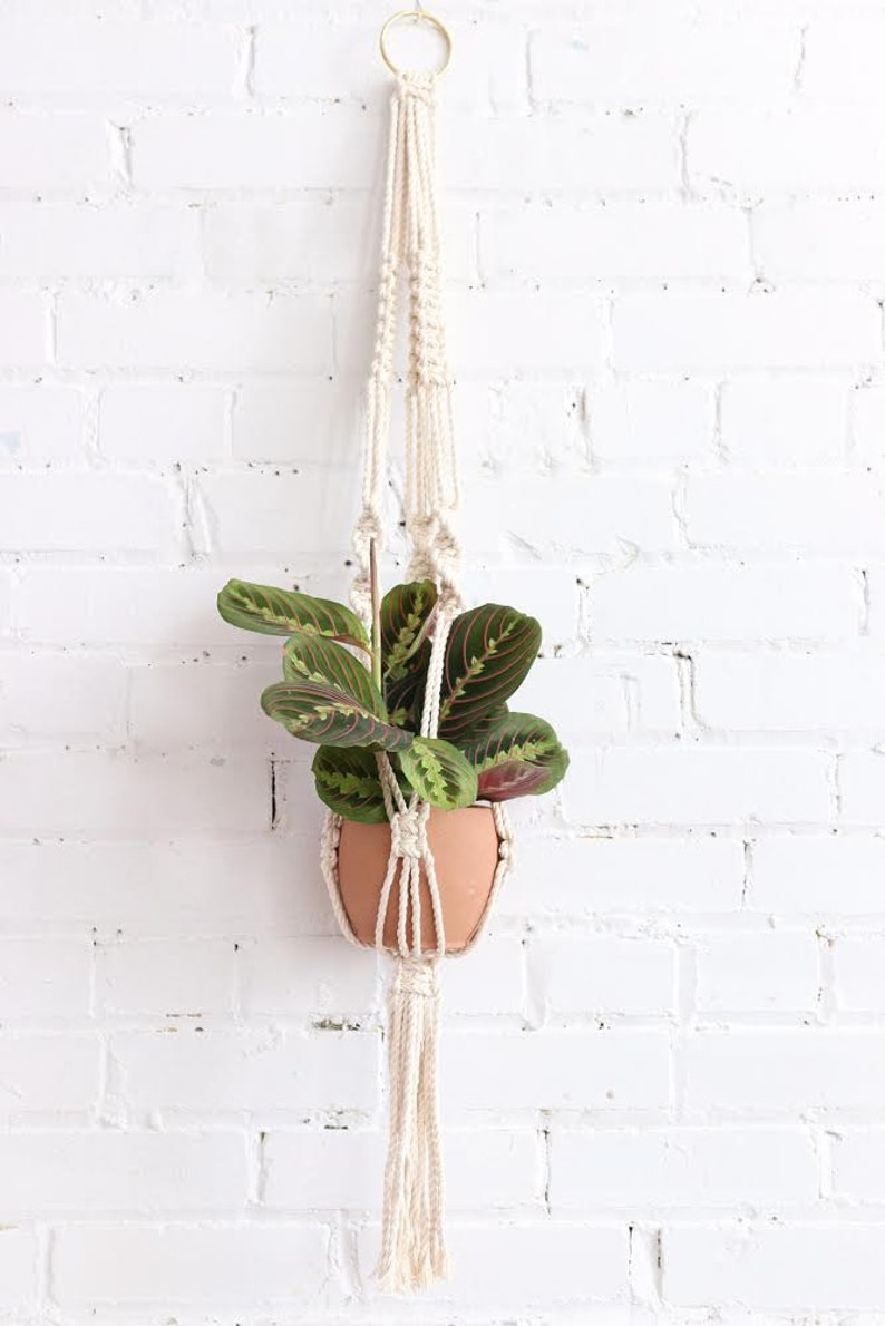 Sesame Macrame plant hanger macrame montreal boho montreal image 0