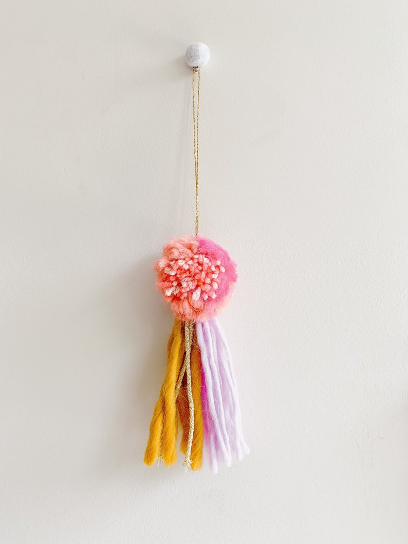 Decorative pompom colorful tassels baby nursery decor boho image 0